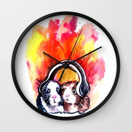 Guinea Pigs Music Wall Clock