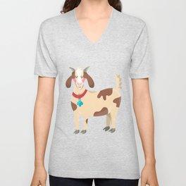 Cute Goat Unisex V-Neck