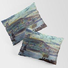 John Atkinson Grimshawn - Whitby Harbor - Digital Remastered Edition Pillow Sham