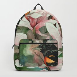 Baltimore Oriole and Magnolias Backpack