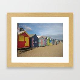 Brighton Beach Boxes Australia Framed Art Print