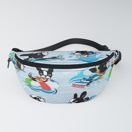 Mirabelle the boston goes to the beach Fanny Pack