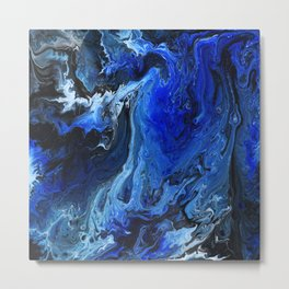 Get through the chaos / Fluid art Metal Print