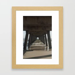 Tybee Island Beach, Savannah, GA Framed Art Print