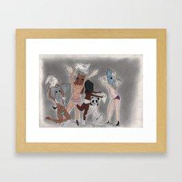 Animal Head Framed Art Print