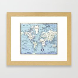 A Really Nice Map Framed Art Print