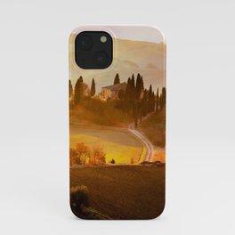 golden tuscan villa glow up tint landscape art nature photography iPhone Case