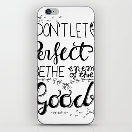 Hand lettering iPhone Skin