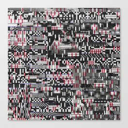 Comfortable Ambiguity (P/D3 Glitch Collage Studies) Canvas Print
