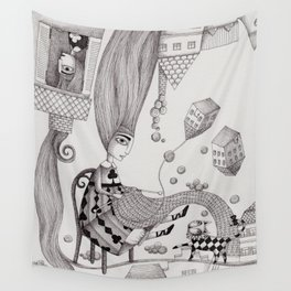 Falling Up Wall Tapestry