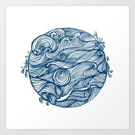 Rough sea (our earth) Art Print
