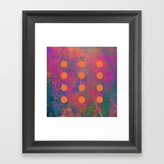 Dotted Abstract Framed Art Print