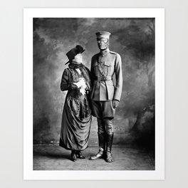 Mrs. Parker & son Art Print