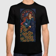 Pond Nouveau Black MEDIUM Mens Fitted Tee