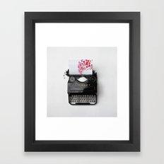 Typing Joy Framed Art Print