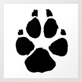 Brushy Paw Art Print