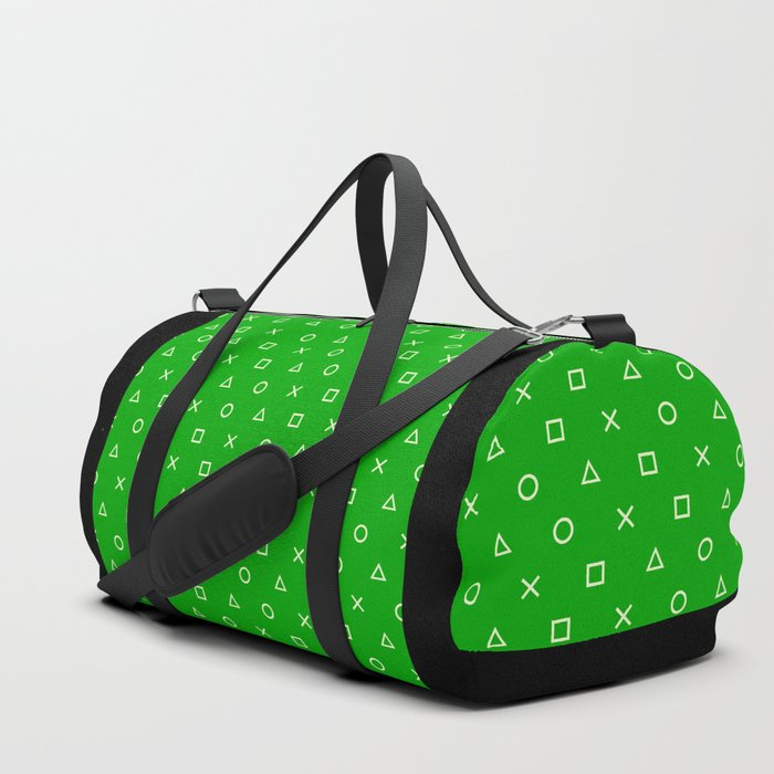 Green Gamer Pattern Duffle Bag