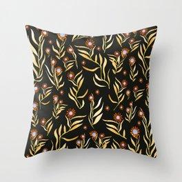 gold nature Throw Pillow