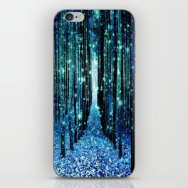 Magical Forest Teal Turquoise iPhone Skin