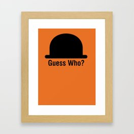 Guess Who? Framed Art Print