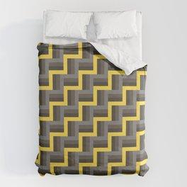 Plus Five Volts - Geometric Repeat Pattern Duvet Cover