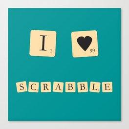 I heart Scrabble Canvas Print
