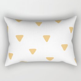 Triangle Pattern - Gold Triangles Rectangular Pillow