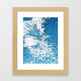 Hard Water Waves Abstract #watercolor #artprints #society6 Framed Art Print