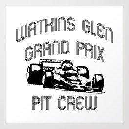 Watkins Glen Grand Prix Pit Crew Art Print