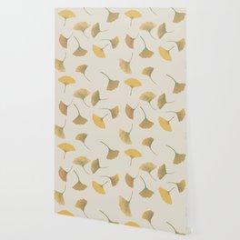 Ginkgo beige Wallpaper