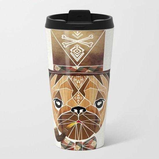 mister pug Metal Travel Mug