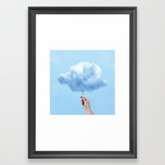 RAINY COTTON CLOUD Framed Art Print