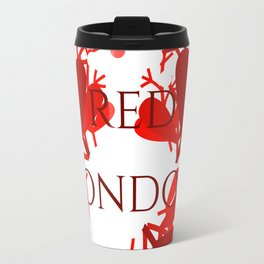 Red London Travel Mug