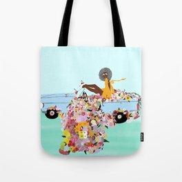 Car full of flowers Tote Bag