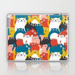 Cats Crowd Pattern Laptop & iPad Skin