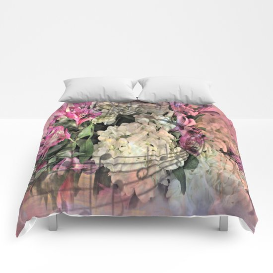 Painterly Spring Splendor Abstract Comforters