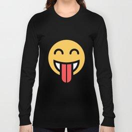 Smiley Face   Big Tongue Out Long Sleeve T-shirt