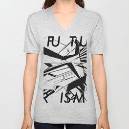 History of Art in Black and White. Futurism Unisex V-Neck