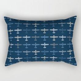 Blue airplane pattern Rectangular Pillow