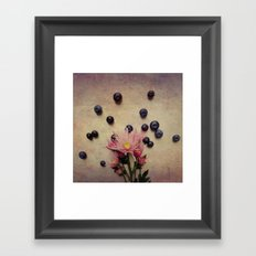 Blooms and Berries Framed Art Print
