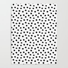 Polka Dots Black and White Poster