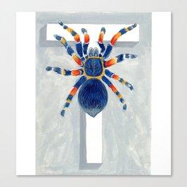 T is for Tarantula  Letter Alphabet Decor Design Art Pattern Canvas Print