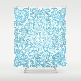 icy blue abstract Shower Curtain
