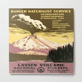 Vintage poster - Lassen Volcanic National Park Metal Print