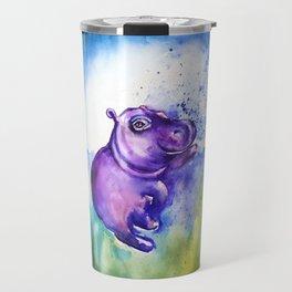Fiona the Hippo - Splashing around Travel Mug
