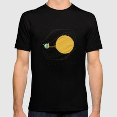 Death by Solar Flare Mens Fitted Tee Black MEDIUM