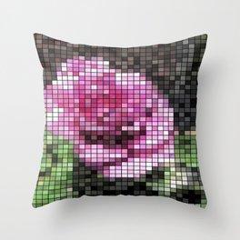 Rosas Moradas 1 Mosaic Throw Pillow