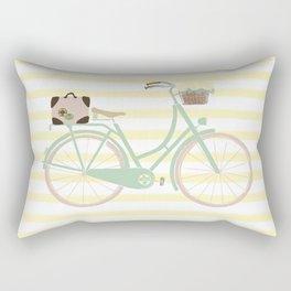 Vintage Summer Bicycle Rectangular Pillow