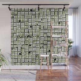 Yellow green pixels fashion Wall Mural