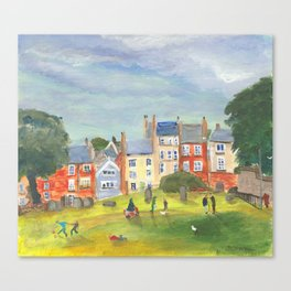 At The Back Of The Church Canvas Print